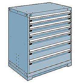 Rousseau Modular Storage Drawer Cabinet 36x24x40, 7 Drawers (4 Sizes) w/o Divider, w/Lock, Blue