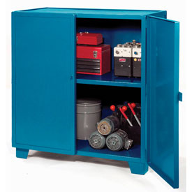 "Jamco Extra Heavy Duty Storage Cabinet MH348-BP - Welded 12 Gauge 48""W x 30""D x 54""H Blue"