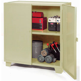 "Jamco Extra Heavy Duty Storage Cabinet MH472-AP - Welded 12 Gauge 72""W x 36""D x 54""H Putty"