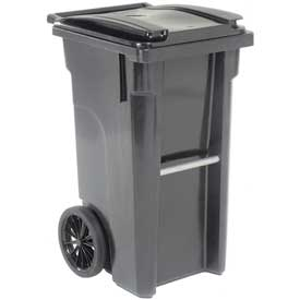 Otto Mobile Trash Container - 35 Gallon Gray