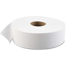 "Boardwalk 1-Ply Jumbo Bath Tissue Roll 12"" Dia., White 4000 Ft./Roll, 6 Rolls/Case - BWK6103"