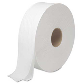 "Boardwalk 2-Ply Jumbo Toilet Roll 12"" Dia., White 2000 Ft./Roll, 6 Rolls/Case - BWK6102"