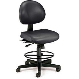 OFM Antimicrobial Stool - Vinyl - Black