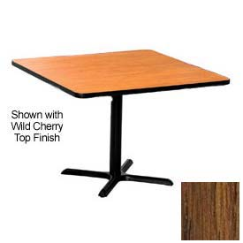 Premier Hospitality Square Restaurant Table - 36x36 - Medium Oak