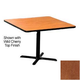 Premier Hospitality Square Restaurant Table - 36x36 - Wild Cherry