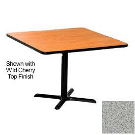 Square 48x48 Laminate Top Table Gray Nebula