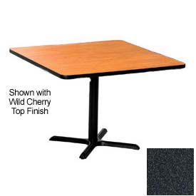 Square 48x48 Laminate Top Table Graphite