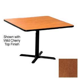 Premier Hospitality Square Restaurant Table - 48x48 - Wild Cherry