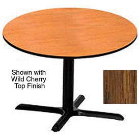 Round 36 Inch Laminate Top Table Medium Oak