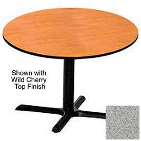 Premier Hospitality Round Restaurant Table - 36 Inch - Table Gray