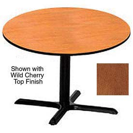 Round 36 Inch Laminate Top Table Wild Cherry