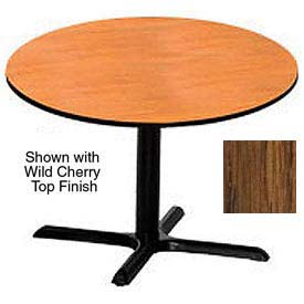 Round 42 Inch Laminate Top Table Medium Oak