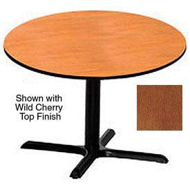 Premier Hospitality Round Restaurant Table - 48 Inch - Table Wild Cherry