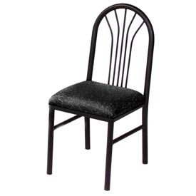 Fabric Cafe Chair Black