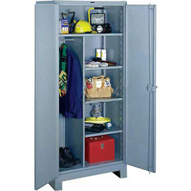 Lyon Heavy Duty Combination Storage Cabinet DD1121 - 36x24x82 - Gray