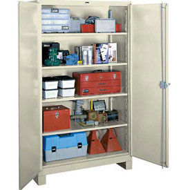Lyon Heavy Duty Storage Cabinet PP1145 - 60x24x82 - Putty
