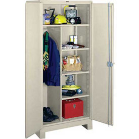 Lyon Heavy Duty Combination Storage Cabinet PP1148 - 48x24x82 - Putty