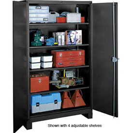Lyon Heavy Duty Storage Cabinet KK1112 - 36x21x64 - Black