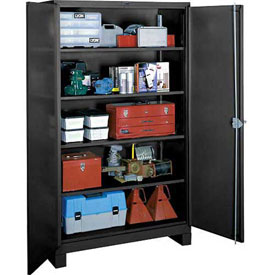 Lyon Heavy Duty Storage Cabinet KK1145 - 60x24x82 - Black