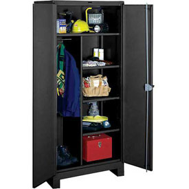 Lyon Heavy Duty Combination Storage Cabinet KK1149 - 60x24x82 - Black