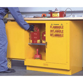 Flammable Liquid Cabinet Self-Close Double Door Vertical Storage