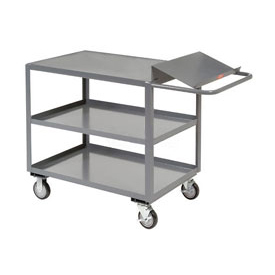 Jamco Three Shelf Order Picking Cart LO236 36x24 Flush Top Shelf