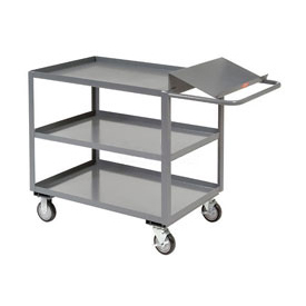 Jamco Three Shelf Order Picking Cart LO248 48x24 Tray Top Shelf