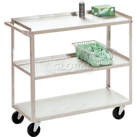 Jamco Stainless Steel Utility Cart XV136 36x18x35 1200 Lb. Capacity by