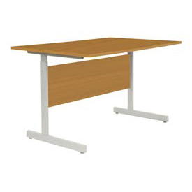 "Interion® Height Adjustable Computer Desk/Table, 36""W x 24""D x 26""- 28""H, Oak"
