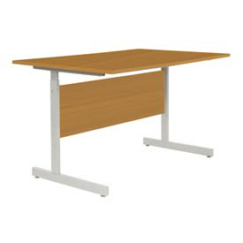 "Interion® Height Adjustable Computer Desk/Table, 48""W x 30""D x 26""- 28""H, Oak"