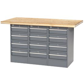 "60""W x 30""D Shop Top 12 Drawer Workbench"