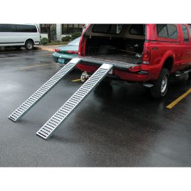"Vestil Pair of Steel Pickup Truck & Van Ramps RAMP-96 96"" 500 Lb. Capacity"