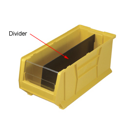 Quantum Divider DUS952 For Hulk Stacking Bins QUS952, 11 x 23-7/8 x 7, Price Per Package of 6
