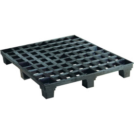 Nestable Shipping Plastic Pallet 48x40x6 2500 Lbs. Max Dynamic Wt. Capacity - Pkg Qty 10