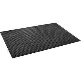 "Heavyweight Indoor Entrance Mat 3/8"" Thick 48"" X 72"" Black"