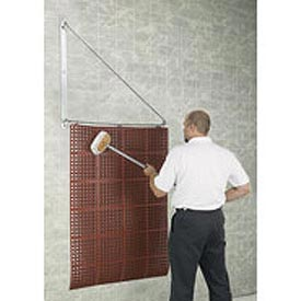 Mat Wash Hinged Wall Rack