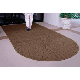 "Waterhog Grand Classic Mat One Oval / One Straight 3'W X 5'6""L Brown"