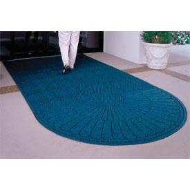 "Waterhog Grand Classic Mat One Oval / One Straight 3'W X 5'6""L Navy"