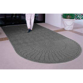 Waterhog Grand Classic Mat One Oval / One Straight 3'W X 10'L Gray
