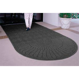 "Waterhog Grand Classic Mat One Oval / One Straight 4'W X 10'6""L Charcoal"