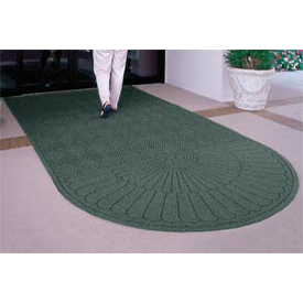 "Waterhog Grand Classic Mat One Oval / One Straight 4'W X 10'6""L Green"