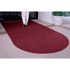 Waterhog Grand Classic Mat One Oval / One Straight 6'W X 7'L Black Red