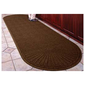 "Waterhog Grand Classic Mat Two Oval 4'W X 12'7""L Brown"