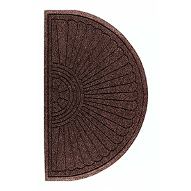 "Waterhog Grand Classic Mat Half Oval 3'W X 1'10""L Brown"