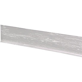"Rubber Riser Stair Cover 48""W Light Gray - Pkg Qty 3"