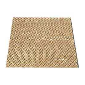 "Rubber Tile Diamond Pattern 24""W X 24""L Beige - Pkg Qty 3"