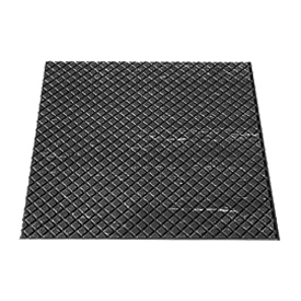 "Rubber Tile Diamond Pattern 24""W X 24""L Black - Pkg Qty 3"