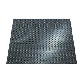 "Rubber Tile Round Disc Pattern 24""W X 24""L Charcoal - Pkg Qty 3"