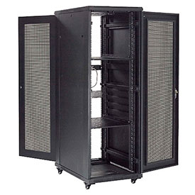 "Network Server Data Rack Enclosure Cabinet with Vented Doors 37U 72"" -  Assembled"