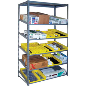 "Sloped Flow Shelving Starter 36""W x 24""D x 84""H Gray"